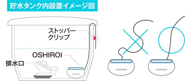 貯水タンク内設置イメージ
